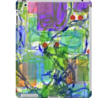 Squares with Tangles and Red Points iPad Case/Skin