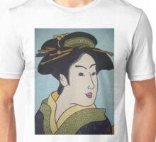 Geisha with green combs Unisex T-Shirt