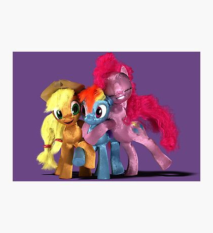MLP 3D - Group Hug Photographic Print