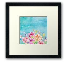 Flowery Blue Framed Print