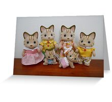 Sylvanian Families ~ Cat Family Greeting Card
