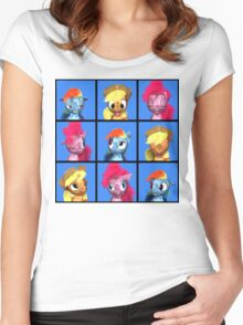MLP 3D - The Pony Bunch Women's Fitted Scoop T-Shirt