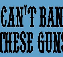 Can't ban these guns by trendism