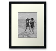 Dogs at the Beach Framed Print