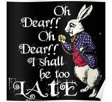 Wonderland White Rabbit Poster