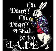 Wonderland White Rabbit Photographic Print
