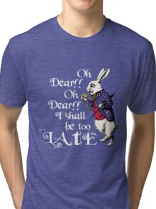 Wonderland White Rabbit Tri-blend T-Shirt