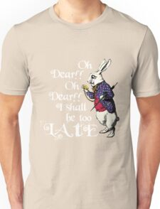 Wonderland White Rabbit Unisex T-Shirt