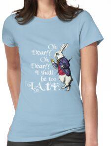 Wonderland White Rabbit Womens Fitted T-Shirt