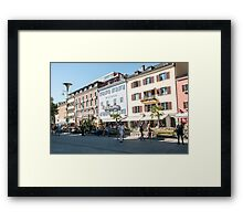 Lienz, Tyrol, Austria. the main pedestrian and shopping street  Framed Print