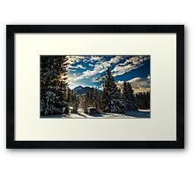 First snow at the mountain Framed Print