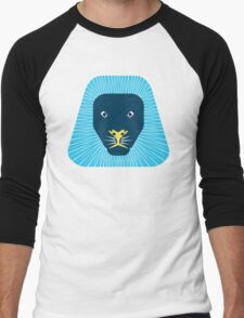abstract lion face Men's Baseball ¾ T-Shirt
