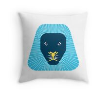 abstract lion face Throw Pillow