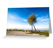 foggy morning in the bay of Trieste Greeting Card