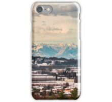 italian fields with snow iPhone Case/Skin