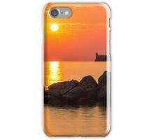 sunset behind the castle of Trieste iPhone Case/Skin