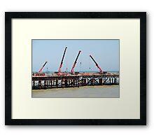 Hastings pier, England Framed Print