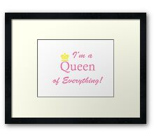 Queen Crown Framed Print