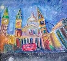 Magic in London St. Paul's bus by poonspoon