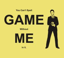 You Can't Spell Game Without Me In It - Barney Baby Tee