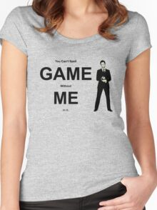 You Can't Spell Game Without Me In It - Barney Women's Fitted Scoop T-Shirt