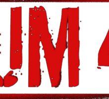 SUM 41 LOGO STENCIL RED Sticker