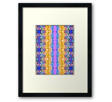 Textural Stripes Abstract Framed Print