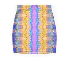 Textural Stripes Abstract Mini Skirt