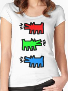 """HARING - RGB """" Red Green Blue"""" Women's Fitted Scoop T-Shirt"""