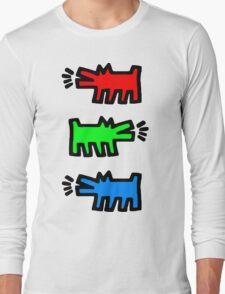"HARING - RGB "" Red Green Blue"" Long Sleeve T-Shirt"
