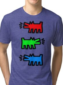 "HARING - RGB "" Red Green Blue"" Tri-blend T-Shirt"