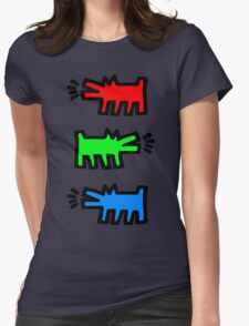 """HARING - RGB """" Red Green Blue"""" Womens Fitted T-Shirt"""