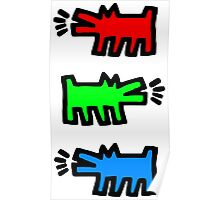 "HARING - RGB "" Red Green Blue"" Poster"