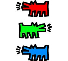 "HARING - RGB "" Red Green Blue"" Photographic Print"