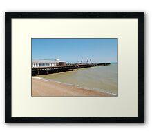 Hastings pier rebuilding Framed Print