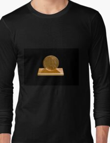 Israeli Priestly Blessing bronze Medal on black background Long Sleeve T-Shirt