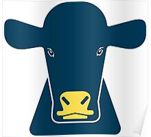creative cow face Poster