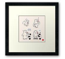 Drunk As A Polar Bear Framed Print
