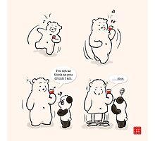 Drunk As A Polar Bear Photographic Print
