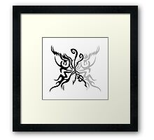 Flaming butterfly Framed Print