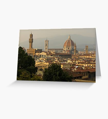 Hot Summer Afternoon in Florence, Italy Greeting Card