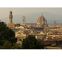 Hot Summer Afternoon in Florence, Italy Photographic Print