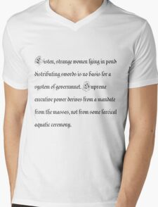 Basis for a system of government Mens V-Neck T-Shirt