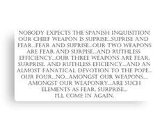 The Spanish Inquisition Canvas Print