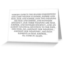 The Spanish Inquisition Greeting Card