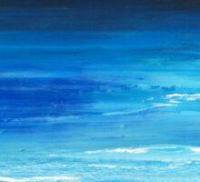 Blue mist over Nantucket Island Sticker