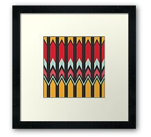 Waves and other shapes pattern Framed Print