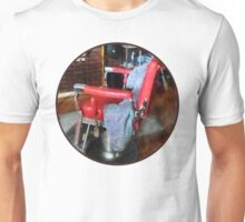 Red Barber Chair Unisex T-Shirt