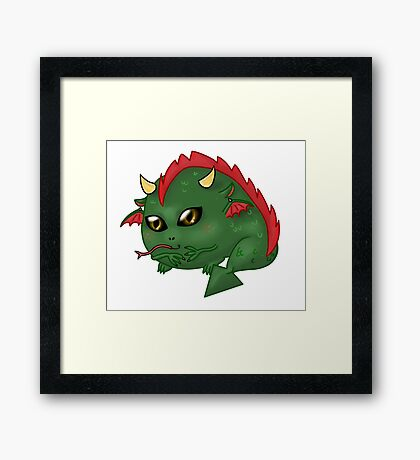Chibi Dragon Framed Print