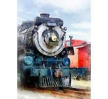 Locomotive and Caboose Photographic Print